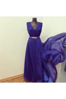 Rochie din voal albastru regal