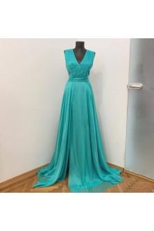 Rochie din voal verde aqua