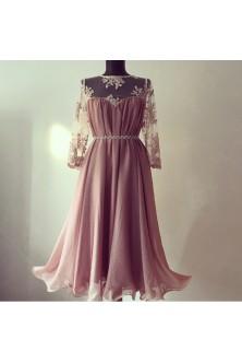 Rochie cu decolteu inimioara roz prafuit