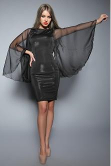 Rochie cu maneci din voal
