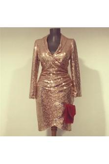 Rochie din paiete bronz