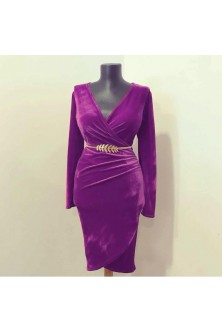 Rochie din catifea Ultra Violet