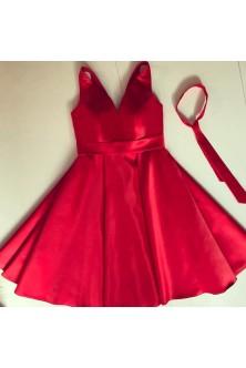 Rochie din tafta Duchesse rosie
