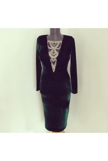Stunning Dark Emerald dress