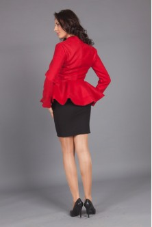 Jacheta cu peplum de primavara