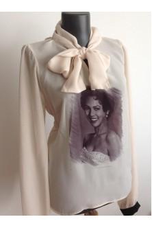 Bluza cu funda Audrey Hepburn
