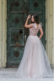 Rochie nude-rose