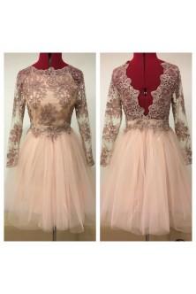 Rochie din broderie roz prafuit cu pietre si tulle fin rose quartz