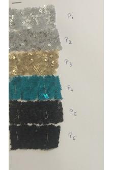 Rochie clopotel din paiete aqua blue