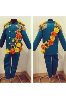 Costum de baietel cu flori